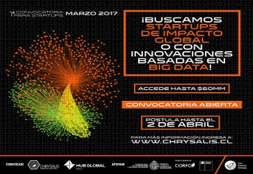 VRIEA lanza 1° convocatoria 2017 para startup de impacto global con cupo especial en Big Data