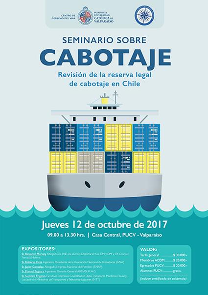 """Seminario sobre Cabotaje: """"Revisión de la reserva legal de cabotaje en Chile"""""""