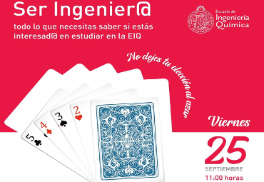"Escuela de Ingeniería Química invita a evento virtual ""Ser Ingenier@"""