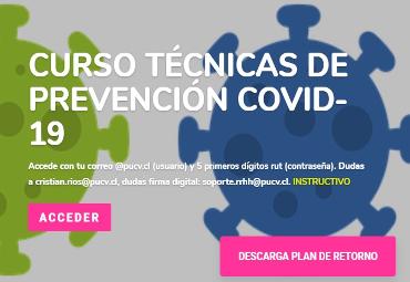 PUCV ofrece curso con Técnicas de Prevención de Covid-19 para personal académico y funcionarios