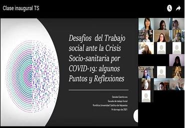 Escuela de Trabajo Social da bienvenida a estudiantes de primer año en Charla Inaugural sobre los desafíos en contexto de Covid-19