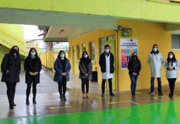 Profesores en formación de la PUCV vuelven a realizar sus prácticas profesionales de manera presencial